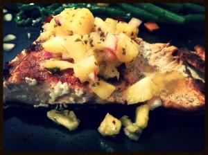 Pineapple Salsa Salmon 13